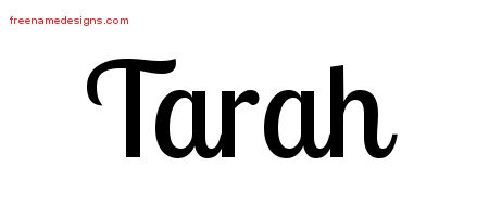 Handwritten Name Tattoo Designs Tarah Free Download