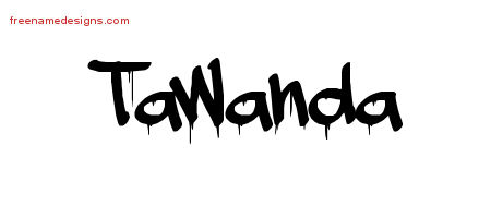 Graffiti Name Tattoo Designs Tawanda Free Lettering