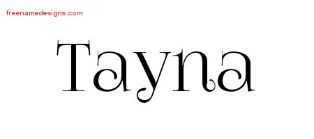 Vintage Name Tattoo Designs Tayna Free Download