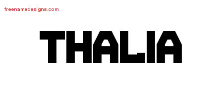Titling Name Tattoo Designs Thalia Free Printout