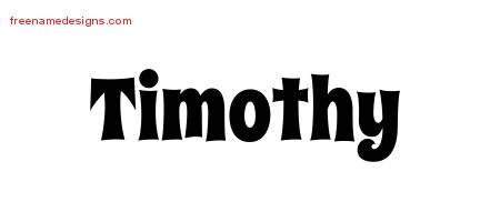 Groovy Name Tattoo Designs Timothy Free Lettering