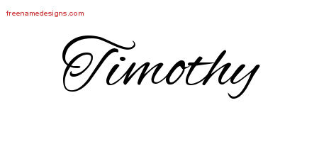 Cursive Name Tattoo Designs Timothy Download Free
