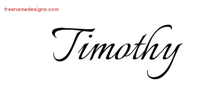 Calligraphic Name Tattoo Designs Timothy Free Graphic