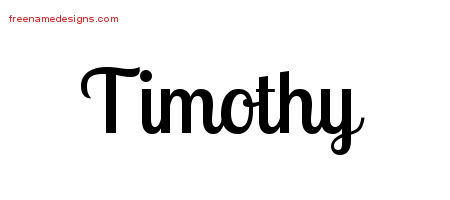 Handwritten Name Tattoo Designs Timothy Free Printout