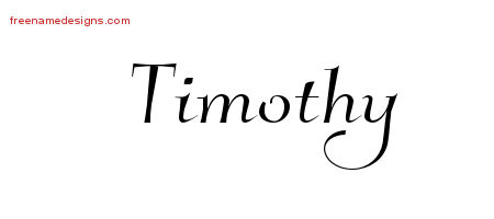Elegant Name Tattoo Designs Timothy Free Graphic