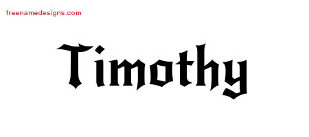 Gothic Name Tattoo Designs Timothy Free Graphic