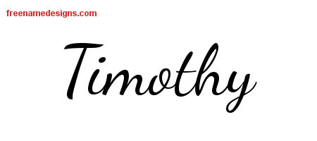 Lively Script Name Tattoo Designs Timothy Free Printout