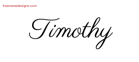 Classic Name Tattoo Designs Timothy Printable