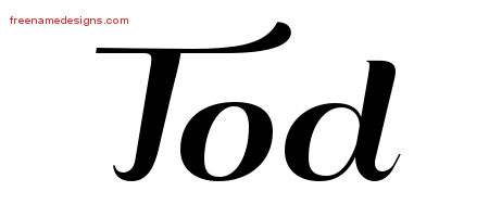 Art Deco Name Tattoo Designs Tod Graphic Download