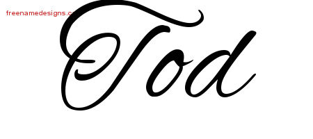 Cursive Name Tattoo Designs Tod Free Graphic