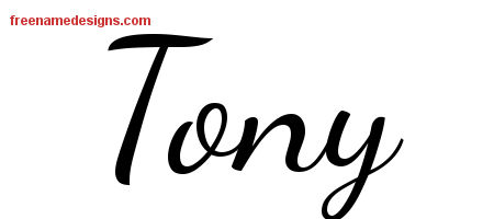 Lively Script Name Tattoo Designs Tony Free Download