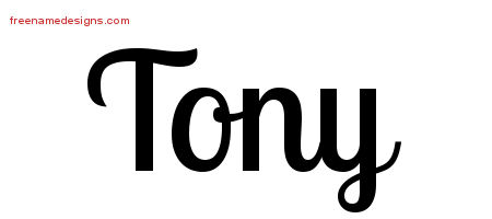 Handwritten Name Tattoo Designs Tony Free Download
