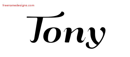 Art Deco Name Tattoo Designs Tony Graphic Download
