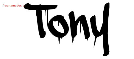 Graffiti Name Tattoo Designs Tony Free Lettering