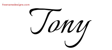 Calligraphic Name Tattoo Designs Tony Download Free