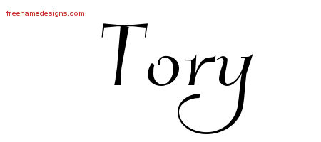 Elegant Name Tattoo Designs Tory Free Graphic