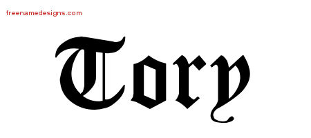 Blackletter Name Tattoo Designs Tory Printable