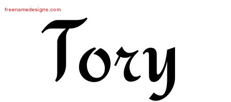 Calligraphic Stylish Name Tattoo Designs Tory Free Graphic