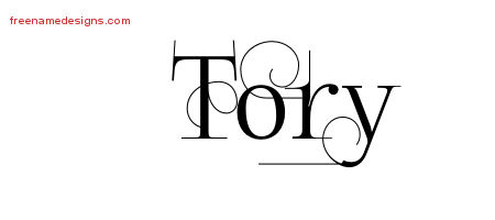 Decorated Name Tattoo Designs Tory Free