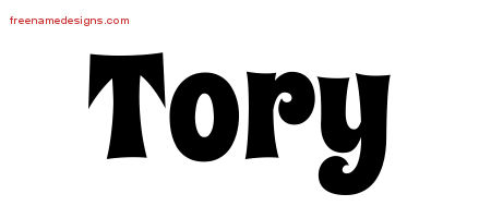 Groovy Name Tattoo Designs Tory Free