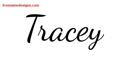 Lively Script Name Tattoo Designs Tracey Free Printout