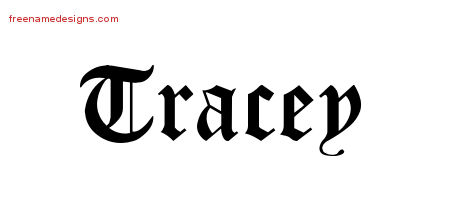 Blackletter Name Tattoo Designs Tracey Graphic Download