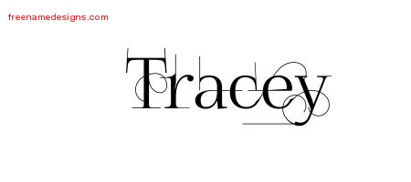 Decorated Name Tattoo Designs Tracey Free