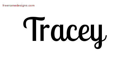Handwritten Name Tattoo Designs Tracey Free Download