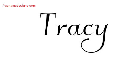 Elegant Name Tattoo Designs Tracy Free Graphic