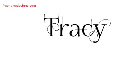 Decorated Name Tattoo Designs Tracy Free Lettering