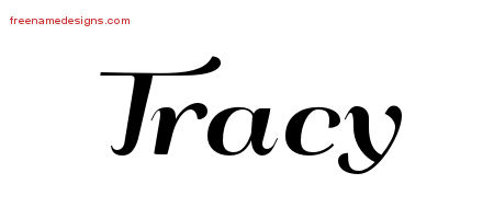 Art Deco Name Tattoo Designs Tracy Graphic Download