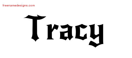 Gothic Name Tattoo Designs Tracy Free Graphic