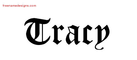 Blackletter Name Tattoo Designs Tracy Printable