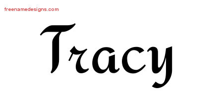 Calligraphic Stylish Name Tattoo Designs Tracy Free Graphic