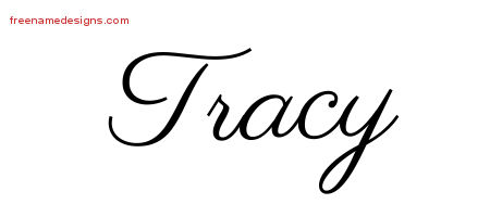 Classic Name Tattoo Designs Tracy Graphic Download