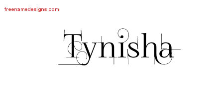 Decorated Name Tattoo Designs Tynisha Free