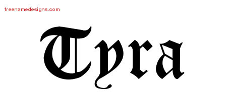 tyra Archives - Free Name Designs
