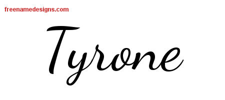 Lively Script Name Tattoo Designs Tyrone Free Download