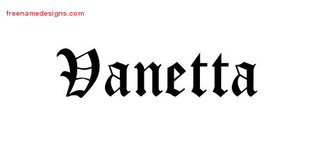 Blackletter Name Tattoo Designs Vanetta Graphic Download
