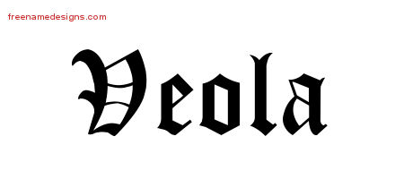 Blackletter Name Tattoo Designs Veola Graphic Download