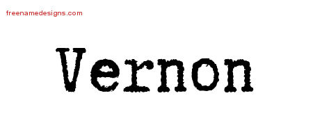 Typewriter Name Tattoo Designs Vernon Free Printout