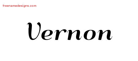 Art Deco Name Tattoo Designs Vernon Printable