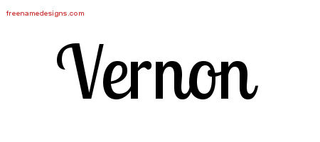 Handwritten Name Tattoo Designs Vernon Free Download