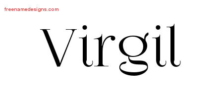 Vintage Name Tattoo Designs Virgil Free Printout