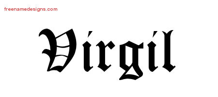Blackletter Name Tattoo Designs Virgil Printable