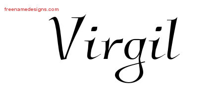Elegant Name Tattoo Designs Virgil Free Graphic