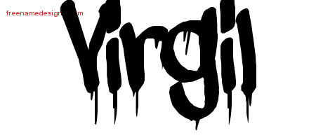 Graffiti Name Tattoo Designs Virgil Free Lettering