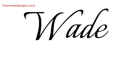 Calligraphic Name Tattoo Designs Wade Free Graphic