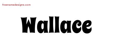 Groovy Name Tattoo Designs Wallace Free