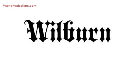 Old English Name Tattoo Designs Wilburn Free Lettering